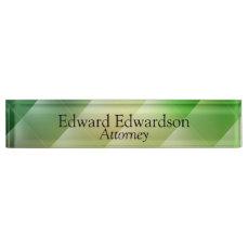 Green Diamond Desk Name Plate