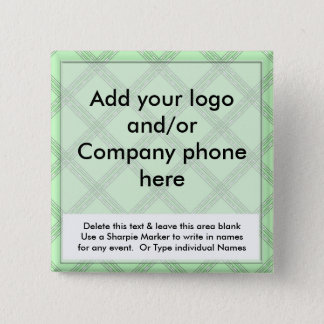 Green Diamond Event Business Name Badges Tags Pins