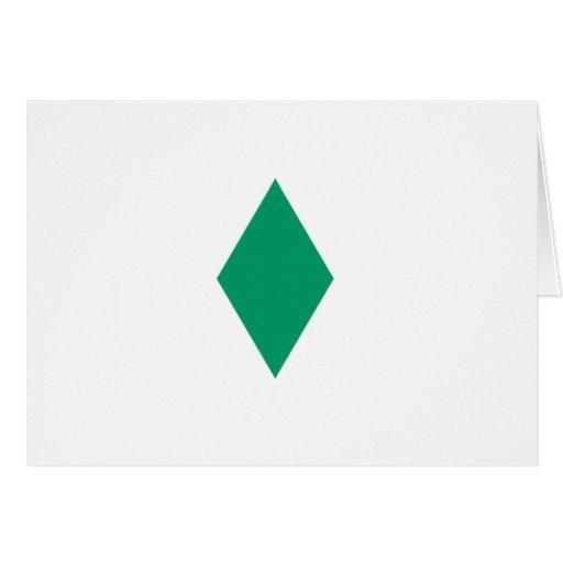 Green Diamond Greeting Card