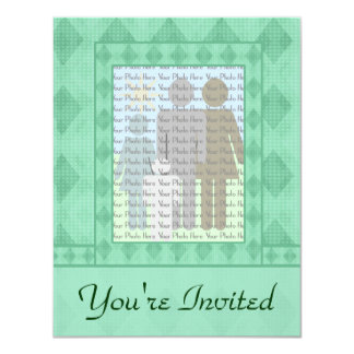 Green Diamond Invitation Cards