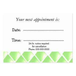 Green Diamond Medical Appointment Large Business Card