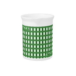 Green diamond n sq rect patterns. LOWPRICE STORE Drink Pitchers