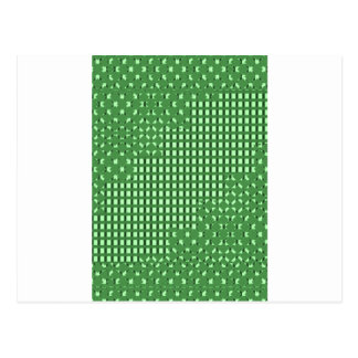 Green diamond n sq rect patterns. LOWPRICE STORE Postcard