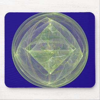 Green Diamond on Blue Mouse Pad