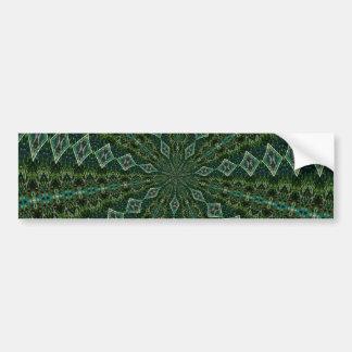 Green Diamond Pattern Bumper Sticker