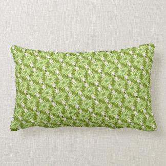 Green Diamond Pattern Pillow