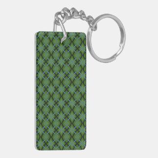 Green Diamonds Acrylic Keychain