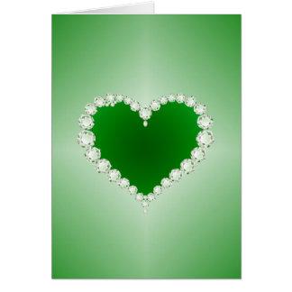 Green, Diamonds, Heart, Card