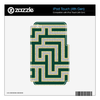 Green Diamonds Maze Pattern Multiple Products sele Decals For iPod Touch 4G