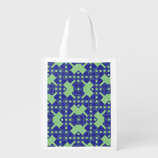 Green Dice Grocery Bag