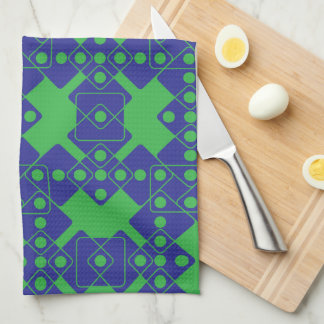 Green Dice Kitchen Towel