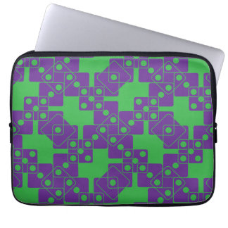 Green Dice Laptop Sleeves