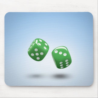 Green dice mouse pad