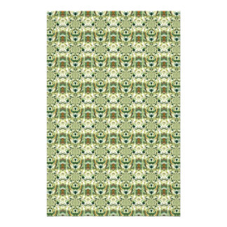 Green Digital Abstract Pattern Art Stationery