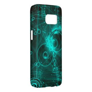green digital techno art samsung galaxy s7 case