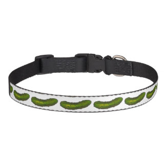 Green Dill Pickle Pickles Dog Collar