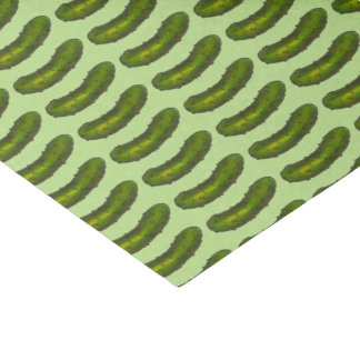Green Dill Pickle Pickles Foodie Tissue Paper