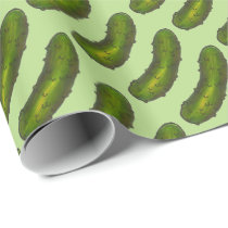 Green Dill Pickle Pickles Foodie Wrapping Paper