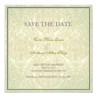 Green Dilly elegant save the date Invitations
