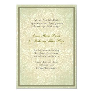 Green Dilly elegant wedding invitation