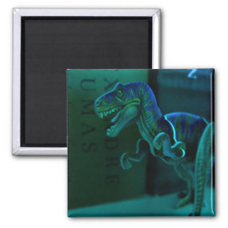Green Dino 2 Inch Square Magnet