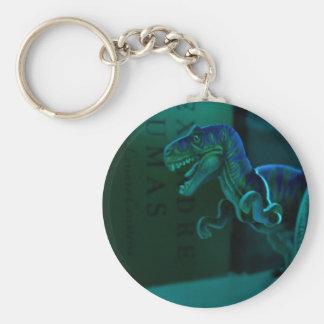 Green Dino Basic Round Button Keychain
