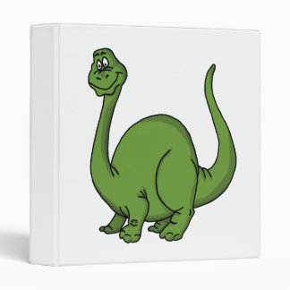 Green Dino Vinyl Binders