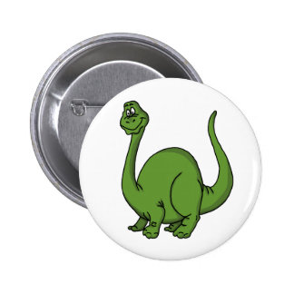 Green Dino Pinback Buttons