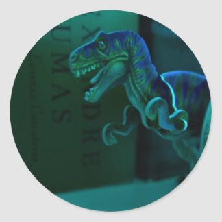Green Dino Classic Round Sticker