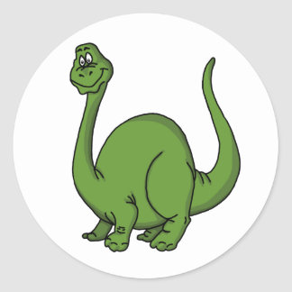 Green Dino Classic Round Sticker