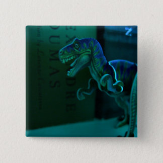 Green Dino Pinback Button