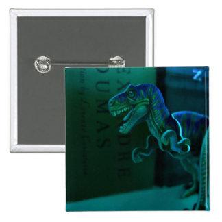 Green Dino Pinback Button