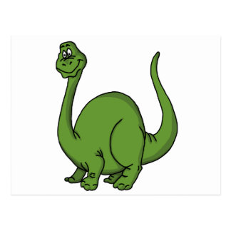 Green Dino Post Card