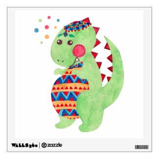 Green Dino Wall Stickers