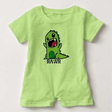 Toddler & Baby themed Green Dinosaur baby outfit Baby Romper