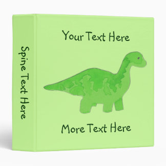 Green Dinosaur Binder