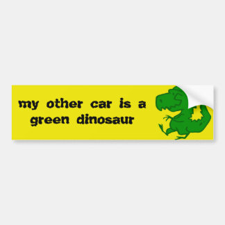 green dinosaur Bumper Sticker