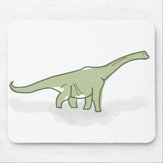 Green Dinosaur, Digital Illustration Mouse Pad