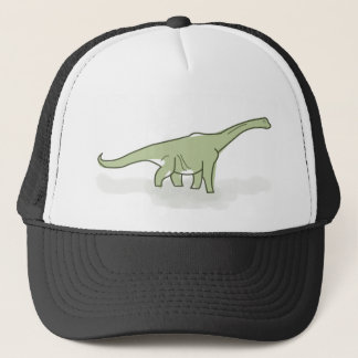 Green Dinosaur, Digital Illustration Trucker Hat
