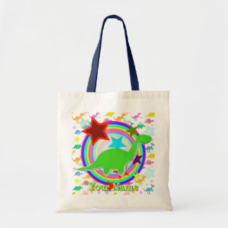 Green Dinosaur Gift Bag with Your Name
