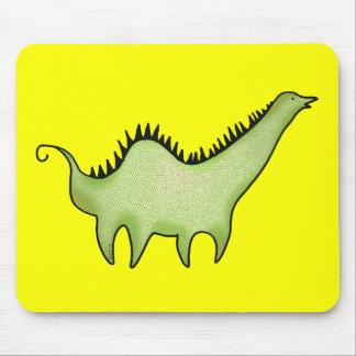 Green dinosaur mouse mats