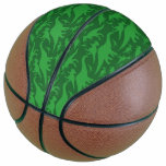 Green Dinosaur Pattern Basketball