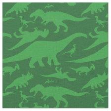 Green Dinosaur Pattern Fabric