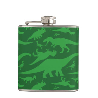 Green Dinosaur Pattern Flask