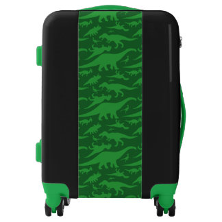 Green Dinosaur Pattern Luggage