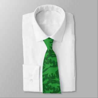 Green Dinosaur Pattern Tie