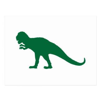 Green Dinosaur Post Card