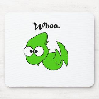 Green Dinosaur Pterodactyl or Dragon Whoa Cartoon Mouse Pad