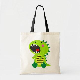 Green Dinosaur RAWR Tote Bag