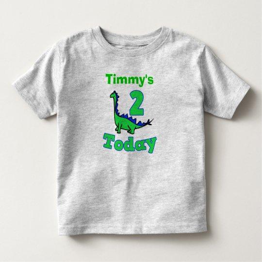 779d1016 Green Dinosaur Second Birthday Boy Shirt | Zazzle.com